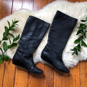 $695🌿Loeffler Randall Matilde Black Leather Boots